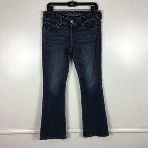 American Eagle Kickboot Dark Wash Jeans Size 10